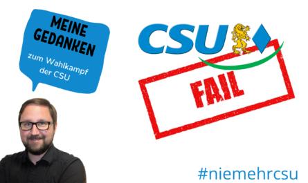 Titelbild Kommentar zum CSU Wahlkampf